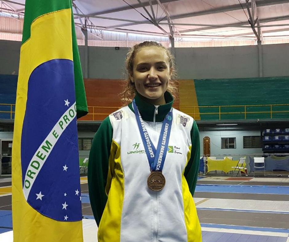 Luana Pekelman conquista sua segunda medalha no Pan-americano, agora no Juvenil.